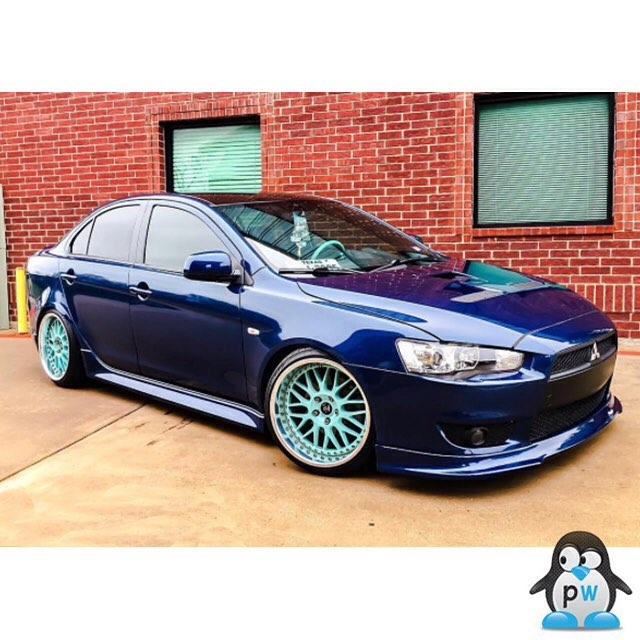 Mitsubishi Lancer Wrapped In Avery Gloss Dark Blue