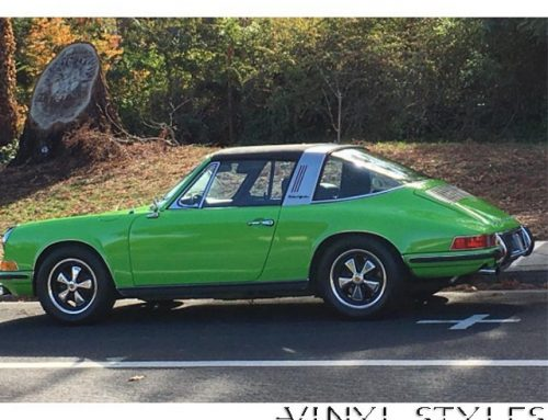 Porsche Targa Series wrapped in Avery SW Gloss Grass Green vinyl