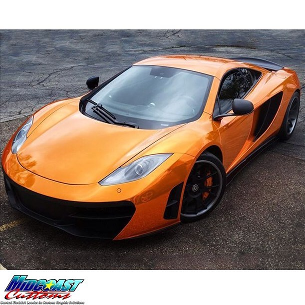 McLaren MP412C wrapped in Avery SW Chrome overlaminated with the new Avery SF Transparent Orange vinyl