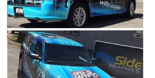 FordFlex Commercial Trucks wrapped in using custom printed 3M 480Cv3 vinyl