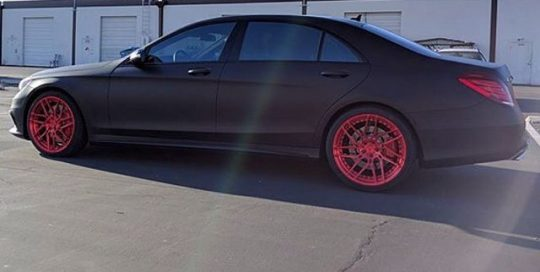 Mercedes Benz wrapped in Avery SW Matte Black vinyl
