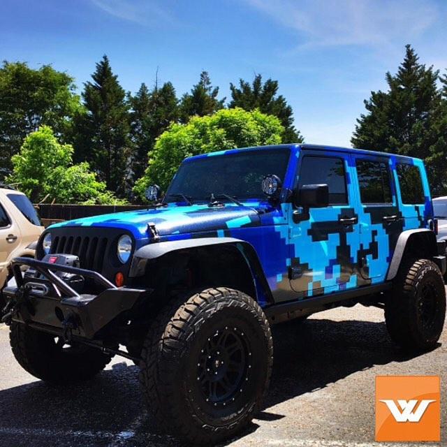 Jeep Wrangler Wrapped In Custom Printed Digitalcamo On