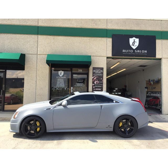 Cadillac CTS-V wrapped in Avery SW900 Matte Dark Grey vinyl