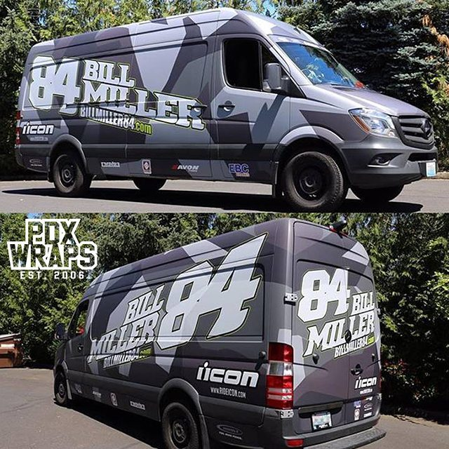 Mercedes Benz Sprinter Van wrapped in custom printed 3M IJ180Cv3 & 8915 vinyl