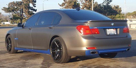 BMW wrapped in Matte Charcoal Metallic vinyl