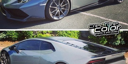 Lamborghini Huracan wrapped in Avery SW Gloss Metallic Meteorite vinyl