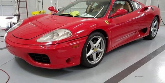 Ferrari 360 wrapped in Avery SW Gloss Carmine Red