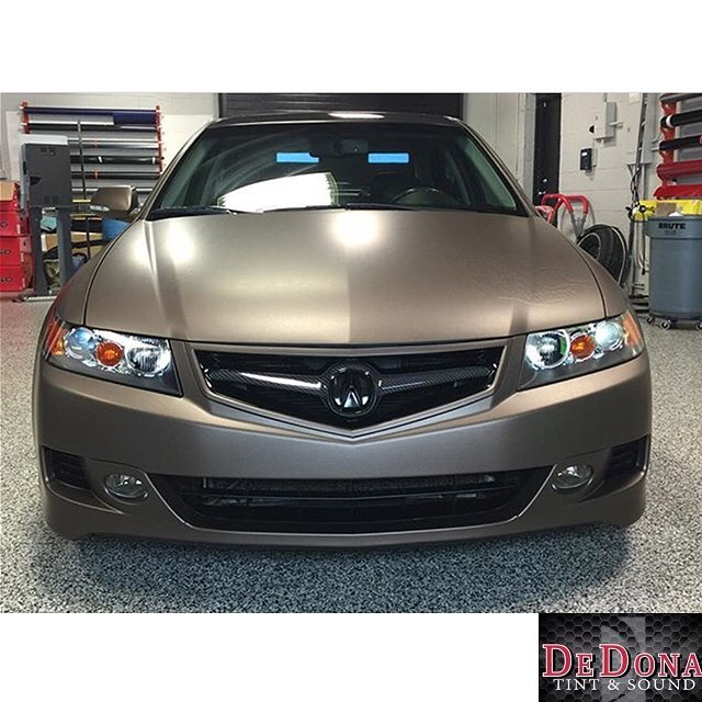 Acura TSX Wrapped In Matte Brown Metallic Vinyl