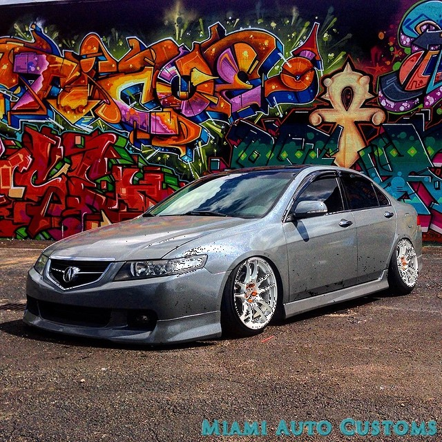 Acura TSX Wrapped In Avery SW Meteorite Metallic Vinyl