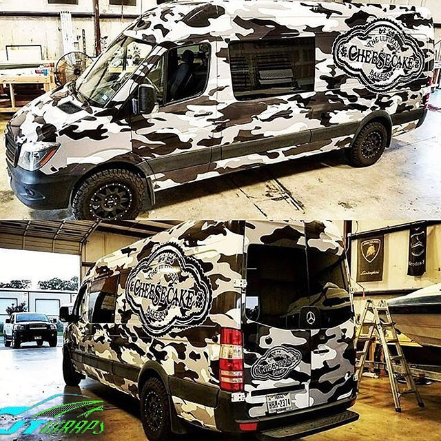 Sprinter Van wrapped in in custom printed 3M IJ180Cv3 vinyl