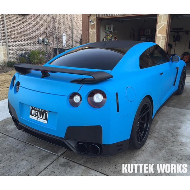 Nissan Gtr Wrapped In Arlon Upp Matte Riviera Blue Vinyl