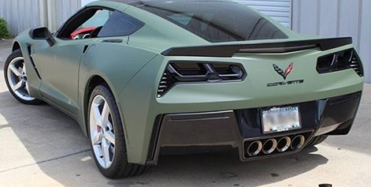 Stingray Car Series wrapped in Matte Military Green vinyl