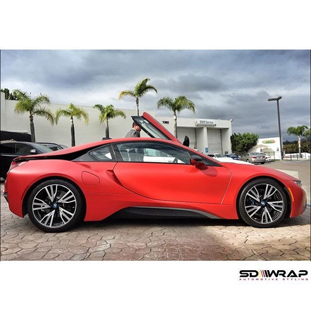 Bmw York Pa: BMW I8 Wrapped In Satin Smoldering Red Vinyl