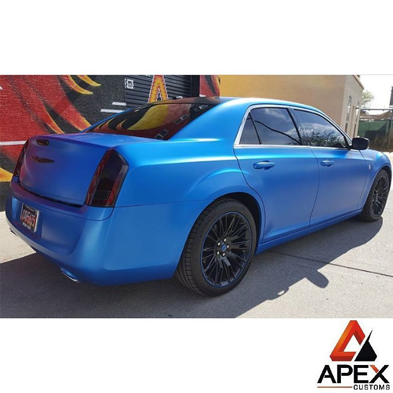 Chrysler300 Wrapped In Satin Perfect Blue Vinyl