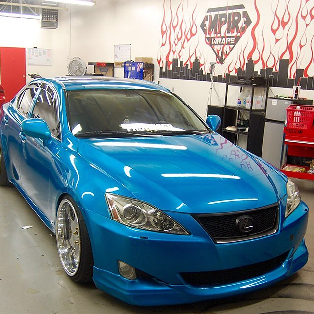 Lexus Is250 Wrapped In Gloss Atomic Teal Vinyl
