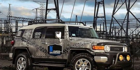 Toyota FJ Cruiser wrapped in custom printed General Formulations Concept 230 vinyl