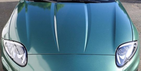 Jaguar RK wrapped in Matte Pine Green Metallic vinyl