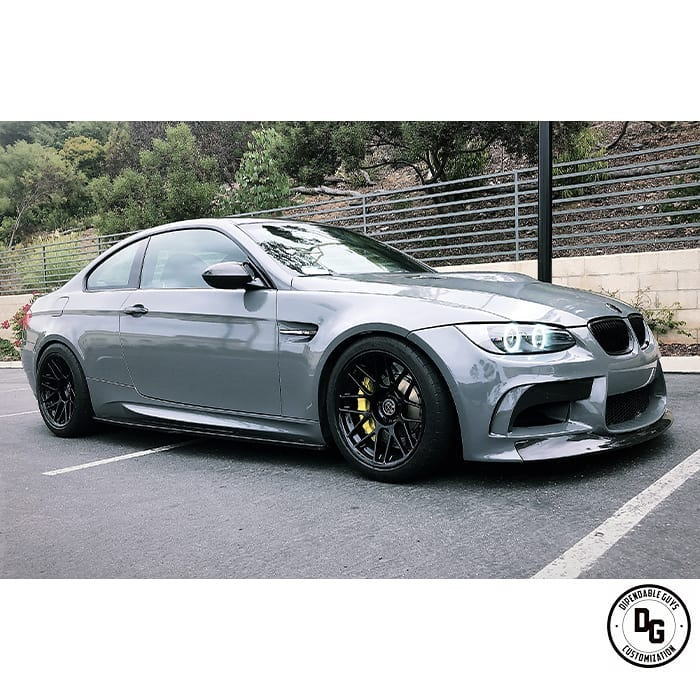 BMW M-3 wrapped in Avery SW Gloss Dark Grey vinyl