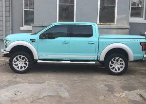 Ford wrapped in Gloss Mint Blue, aka Tiffany Blue
