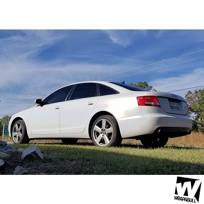 Audi A6 Wrapped in 3M 1080 Satin Flip Ghost Pearl Shade Shifting Vinyl