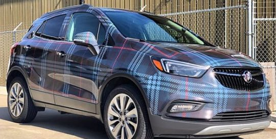 Buick Encore Wrapped in Custom Printed Avery 1105 Vinyl and 1060 Gloss Laminate