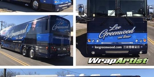 Bus Wrapped in Custom Printed 3M IJ180Cv3 Vinyl with 8515 Gloss Overlaminate
