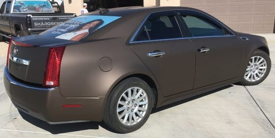 Cadillac CTS Wrapped in 3M 1080 Matte Brown Metallic Vinyl