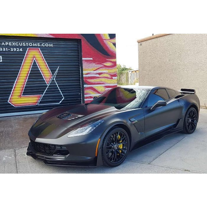 Chevrolet Corvette Wrapped in 3M 1080 Satin Black Vinyl