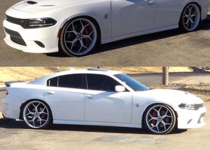 Dodge Charger Wrapped in Avery SW Gloss White Vinyl