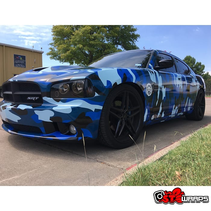 Dodge Charger Wrapped in Custom Printed Avery 1105 Vinyl