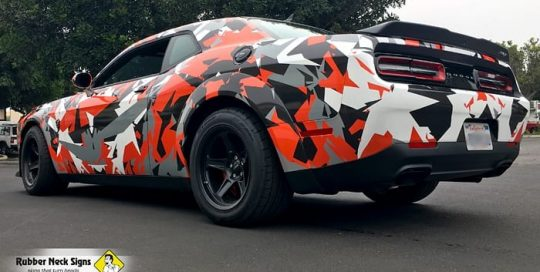 Dodge SRT Challenger Demon Wrapped in Custom Printed Avery 1105 Vinyl
