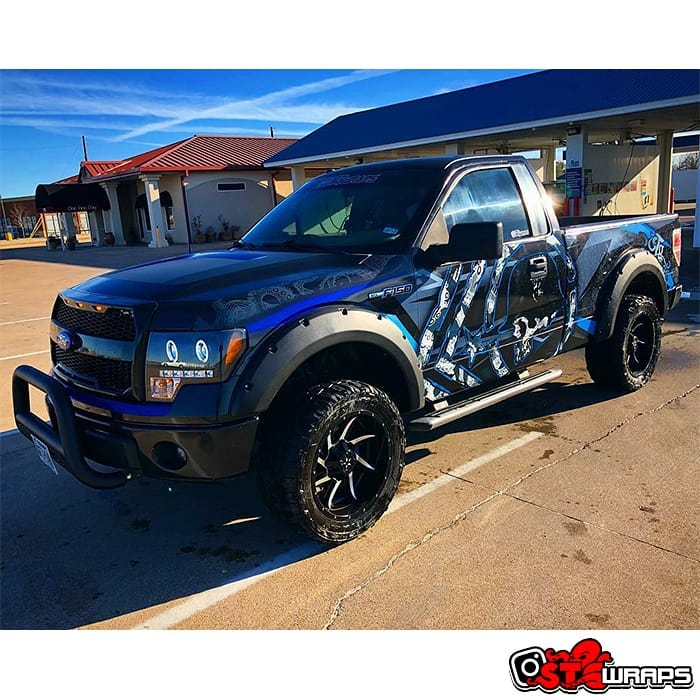 Ford F150 Wrapped in Custom Printed Avery 1105 Vinyl Nd 136oz Gloss Laminate