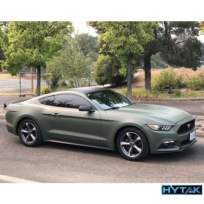Ford Mustang Wrapped in 3M 1080 Matte Military Green