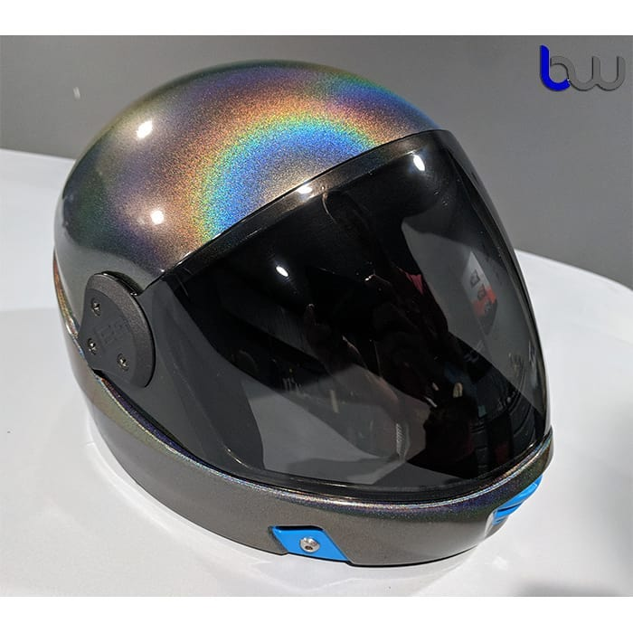 Helmet Wrapped in 3M ColorFlip Gloss Psychedelic Shade Shifting Vinyl