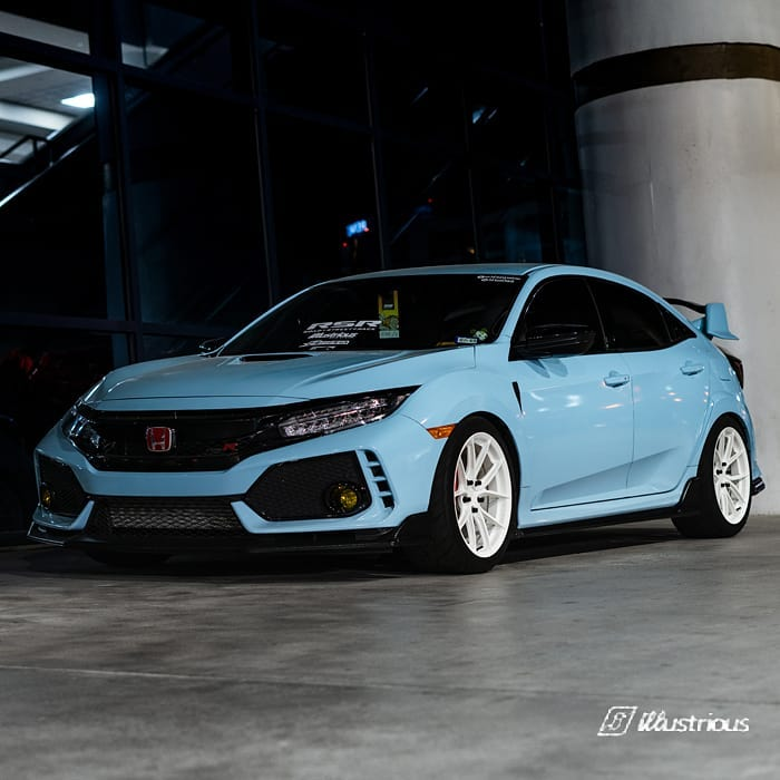 Honda Civic Wrapped in Avery SW Gloss Sea Breeze Blue Vinyl