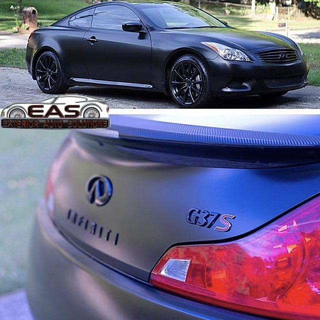 Infinity G37S Wrapped in Avery SW Satin Black Vinyl