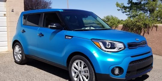 Kia Soul Wrapped in 3M 1080 Satin Ocean Shimmer Vinyl