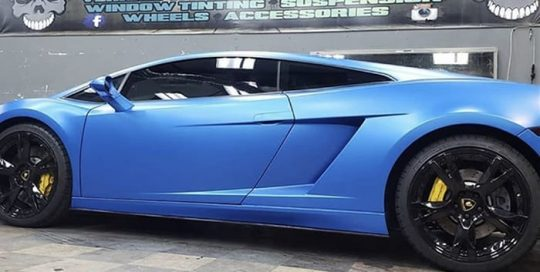 Lamborghini Gallardo Wrapped in 3M 1080 Satin Perfect Blue Vinyl