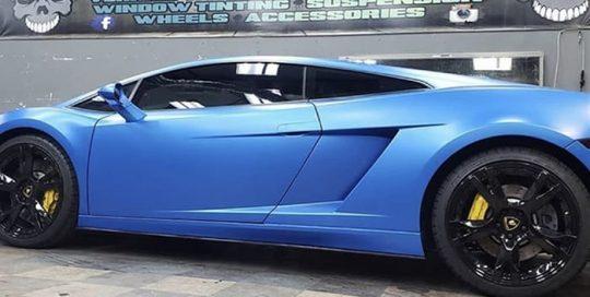 Lamborghini Gallardo Wrapped in 3M 1080 Satin Perfect Blue Vinyl