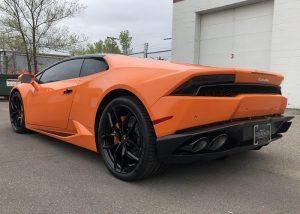 Lamborghini Huracan Wrapped in 3M 1080 Gloss Burnt Orange Vinyl