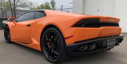 Lamborghini Huracan Wrapped in 3M 1080 Gloss Burnt Orange Vinyl