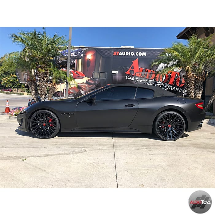 Maserati Wrapped in Avery SW Satin Black Vinyl