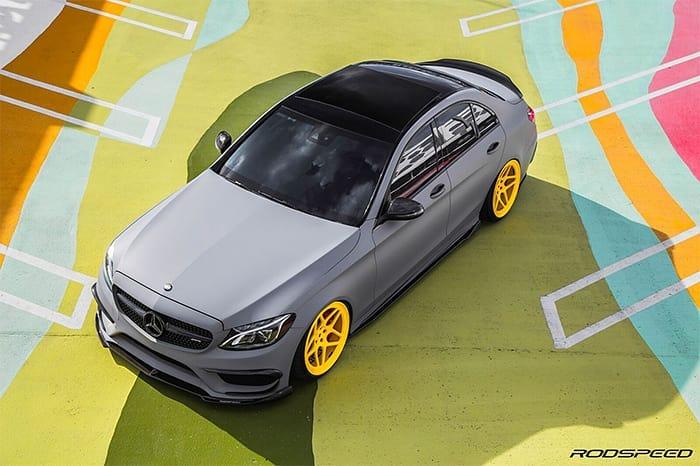 Mercedes-Benz C43 Wrapped in Avery SW Matte Dark Grey Vinyl