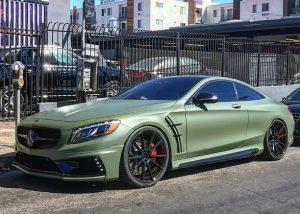 Mercedes-Benz E63 Wrapped iin 3M 1080 Matte Military Green Vinyl