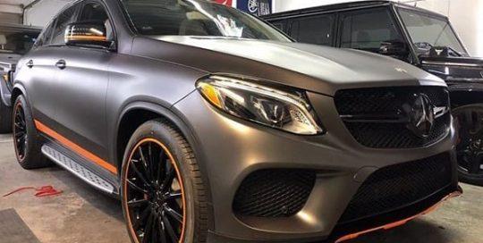 Mercedes-Benz GLE Wrapped in 3M 1080 Matte Dark Gray Vinyl