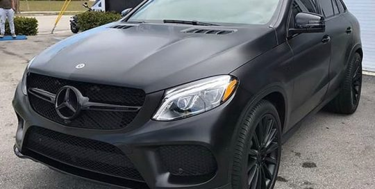 Mercedes-Benz GLE43 Wrapped in 3M Satin Black Vinyl