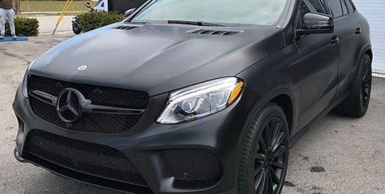 Mercedes-Benz GLE43 Wrapped in 3M Satin Black Vinyl