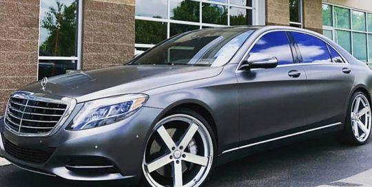 Mercedes Benz Wrapped in 3M 1080 Satin Dark Gray