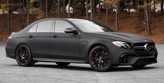 Mercedes E63 Wrapped in 3M 1080 Dead Matte Black Vinyl