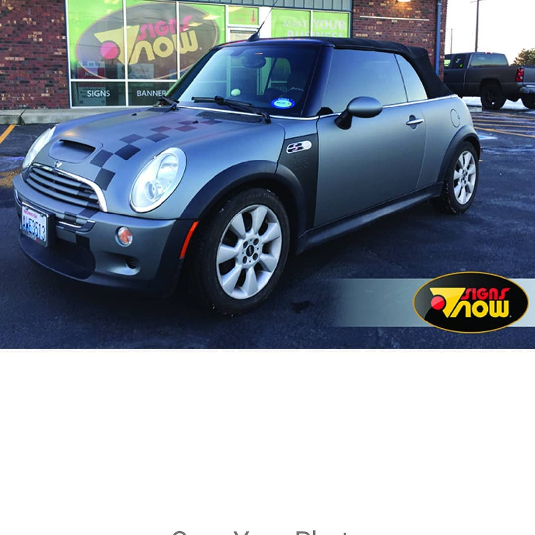 Mini Cooper Wrapped in Avery SW Matte Anthracite Metallic and 3M Matte Black Vinyls